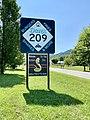 Dave's 209 Cafe Sign, Old Spring Creek School, Spring Creek, NC (50550815388).jpg