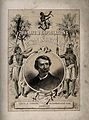 David Livingstone, head and shoulders, in a roundel; two Afr Wellcome V0018867.jpg