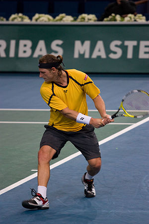 David Nalbandian - David Nalbandian attempting to defend his title at the 2008 BNP Paribas Masters