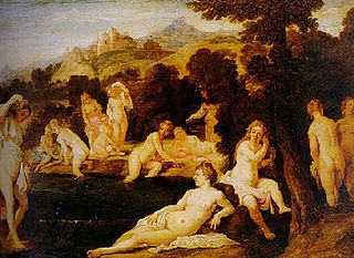 Nymphs Bathing