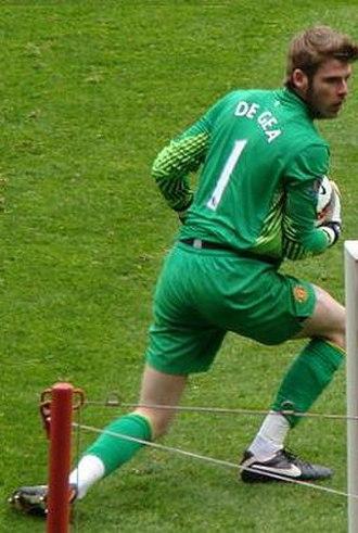 David de Gea - De Gea playing for Manchester United in 2012