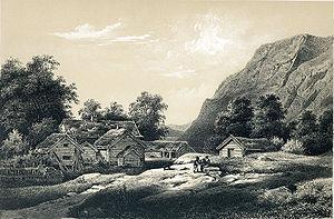 Bremanger - Drawing of Davik parish