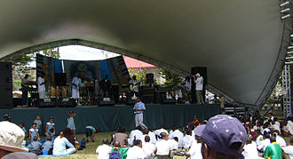 Saint Lucia - The Saint Lucia Jazz Festival in Castries.