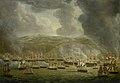 De aanval van het verenigd Engels-Nederlands eskader op Algiers, 1816 Rijksmuseum SK-A-1376.jpeg