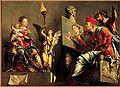 De heilige Lucas schildert de Madonna - Maarten van Heemskerck-1532.JPG