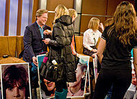 Dean Butler Preparing for An Interview on Fox 5 with the Little House on the Prairie Cast.jpg
