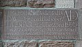 Dedication plaque, church hall of St Matthew and St James, Mossley Hill.jpg
