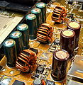 Defective LowESR Capacitors on ATX-Mainboard by FSC.jpg