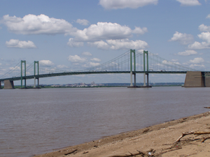 Delaware Memorial Bridge, looking from New Jer...