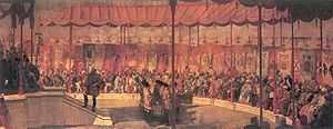 Delhi Durbar - The Delhi Durbar of 1877. The Viceroy of India is seated on the dais to the left.