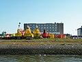 Den Helder, Marinehaven, Boeien op de kade.jpg