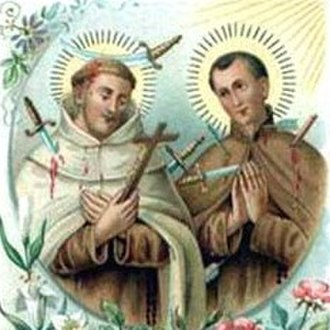 Denis of the Nativity - A devotional image of the Blesseds Denis and Redemptus, O.C.D. (Denis on the left)