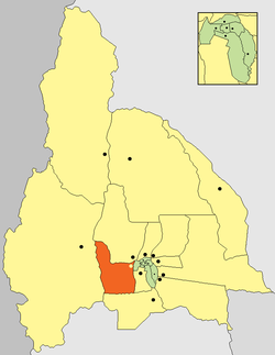 location of Departamento Zonda in San Juan Province