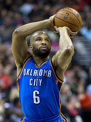 Derek Fisher - Fisher with the Oklahoma City Thunder in February 2014