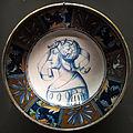 Deruta, piatto con guerriero di profilo, 1500-153.0 ca..JPG