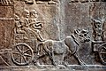 Detail, deportation of a city's inhabitant in southern Iraq. From Nimrud, Iraq, c. 728 BCE. British Museum.jpg