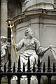 Detail of Anne of Great Britain statue, St Paul's in spring 2013 (2).JPG