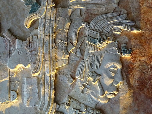 Detail of Mayan Frieze from Classic Era - Palenque Archaeological Site Museum - Chiapas - Mexico - 02 (15675198211)