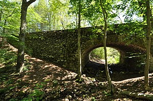 National Register of Historic Places listings in Middlesex County, Connecticut - Image: Devils Hopyard SP Bridge 1603Upstream Side