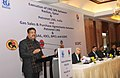 Dharmendra Pradhan addressing at the signing ceremony of Gas Sales and Purchase Agreements between Petronet LNG and other companies, during a press meet, in New Delhi. The Secretary, Ministry of Petroleum and Natural Gas.jpg
