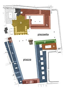 colour-coded diagram of Saint Mark's Square
