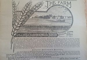 Wisconsin German - The Acker- and Gartenbau Zeitung was a Milwaukee-based magazine for German speaking farmers in the US. The articles, as seen above, sometimes had their headings in English and content in German.