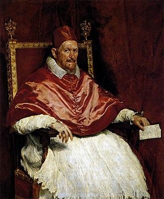 1644 papal conclave - Image: Diego Velázquez Portrait of Innocent X WGA24443