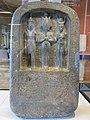 Dieux d'Abydos - Osiris, Horus, Isis (Louvre, C 50).jpg