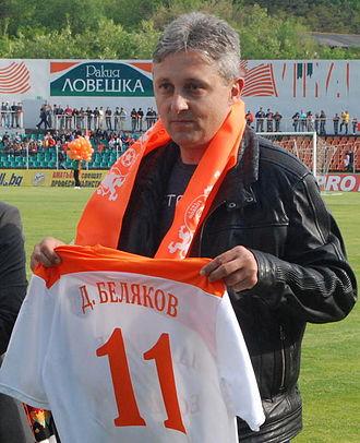 PFC Litex Lovech - Litex's former top goalscorer Dimcho Belyakov.