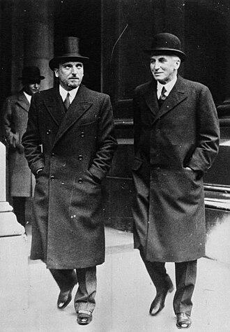 Dino Grandi - Dino Grandi (left) with the British Foreign Secretary John Simon in 1932