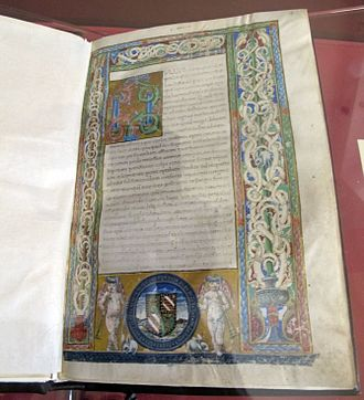 Bibliotheca historica - Medieval illuminated manuscript of the Bibliotheca historica.