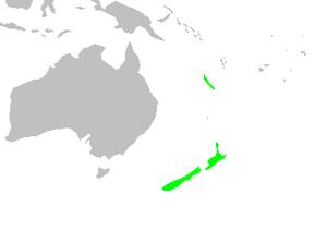 Libocedrus - Image: Distribution.liboced rus