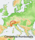 Distribution map Campanula rhomboidalis.png