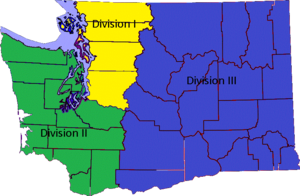 Washington Court of Appeals - Image: Divisions of the Court of Appeals of the State of Washington
