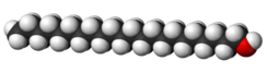 Spacefill model of docosanol