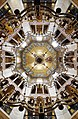 Dome interior and chandelier - Palatine Chapel - Aachen - Germany 2017.jpg