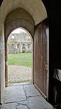 Door of the monks of the chapel of the Priory of Saint-Jean-des-Bonshommes.jpg