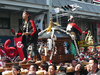 Gifu - A float in the Dōsan Festival