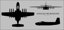 Douglas F6D Missileer three-view silhouette.png