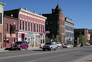Buildings in downtown Leadville, Colorado, USA