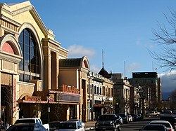 Historic Main Street in recently revived downtown Salinas, featuring Maya Cinemas, home of the largest cinema screen in Monterey County as of April 2006.