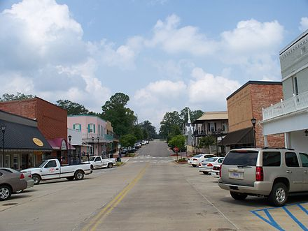 Downtown Thomasville in 2008, looking west up Wilson Avenue. Downtown Thomasville Alabama 01.jpg