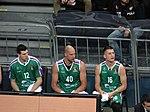 Dragan Milosavljević 12, James Augustine 40 & Nemanja Nedović 16 Baloncesto Málaga EuroLeague 20180405.jpg