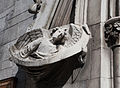 Dublin Saint Saviour's Dominican Priory Church West Portal Left Jamb Sculpture of Angel Holding a Scroll 2012 09 26.jpg