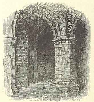 Richmond Castle - An illustration of the dungeon of the keep
