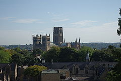 A picture of Durham Cathedral taken from outside the chapel to illustrate the view
