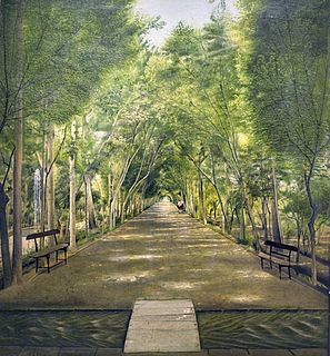 <i>The Doshan Tappeh Street</i> painting by Kamal-ol-molk
