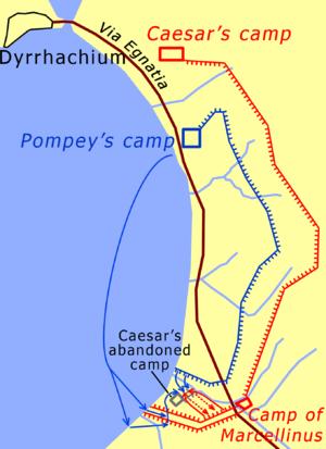 Battle of Dyrrhachium (48 BC) - Image: Dyrrhachium 48 en