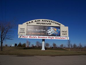 The U.S. Route 41 sign for the Experimental Ai...