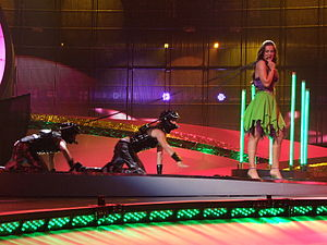 Slovenia in the Eurovision Song Contest - Image: ESC 2008 Slovenia Rebeka Dremelj, 1st semifinal